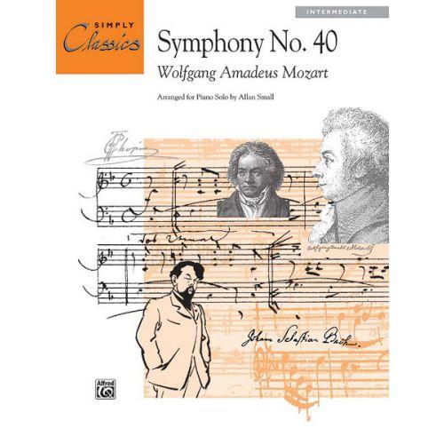 ALFRED PUBLISHING MOZART WOLFGANG AMADEUS - SYMPHONY NO40 OPENING - PIANO SOLO