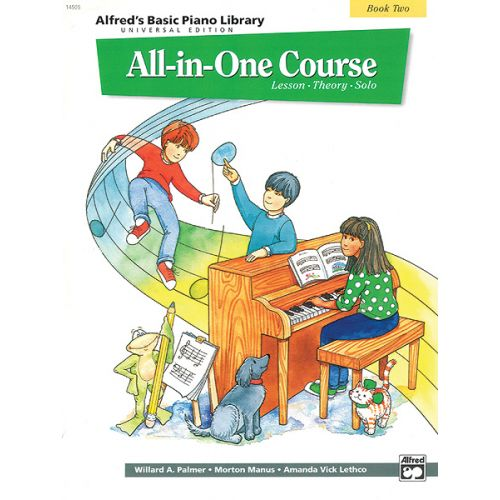 ALFRED PUBLISHING PALMER MANUS AND LETHCO - ALL-IN-ONE PIANO COURSE BOOK 2 - PIANO