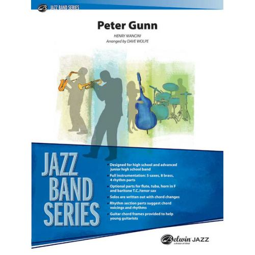 ALFRED PUBLISHING MANCINI HENRY - PETER GUNN - JAZZ BAND
