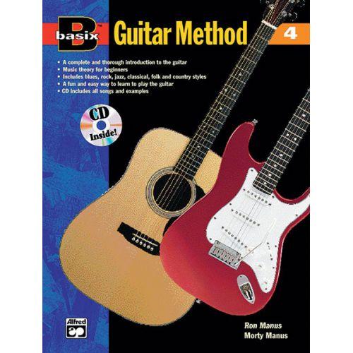 ALFRED PUBLISHING MANUS MORTON - BASIX GUITAR METHOD BOOK 4 + CD - GUITAR