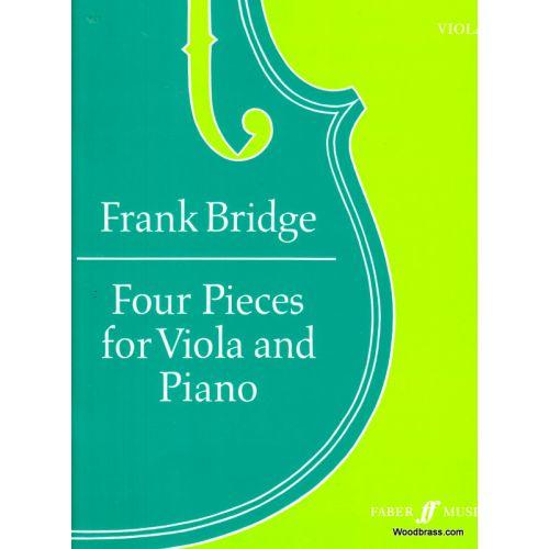 FABER MUSIC BRIDGE FRANK - FOUR PIECES - VIOLA AND PIANO