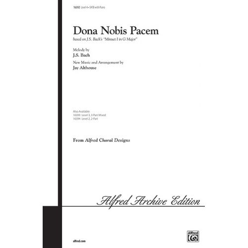 ALFRED PUBLISHING DONA NOBIS PACEM - MIXED VOICES SATB