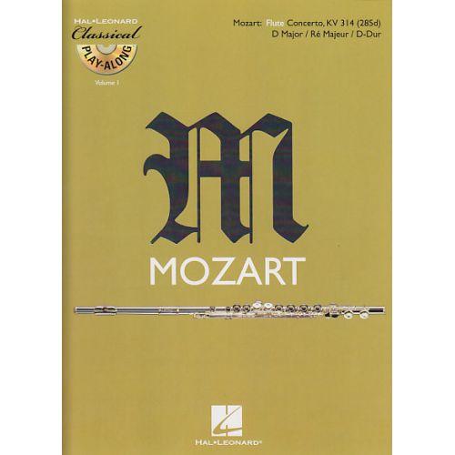 HAL LEONARD MOZART W.A. - CONCERTO EN RE MAJEUR KV314 + CD - FLUTE TRAVERSIERE