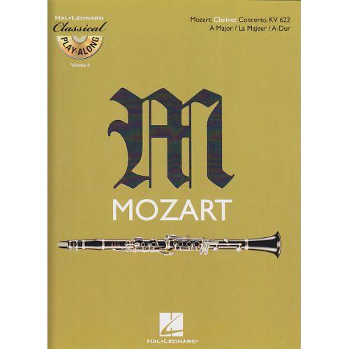 HAL LEONARD MOZART W.A. - CONCERTO EN LA MAJEUR KV 622 + CD - CLARINETTE