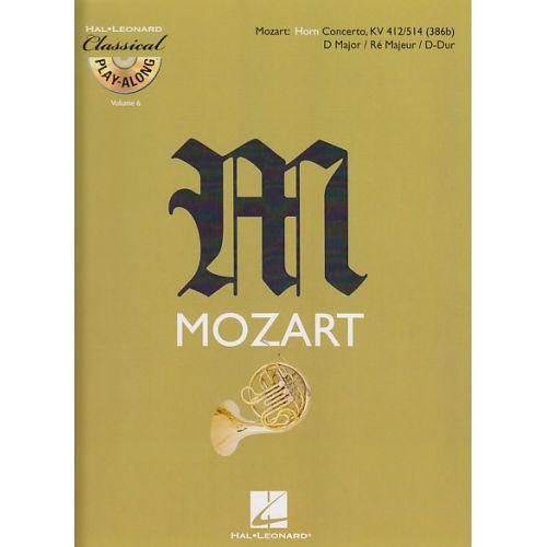 HAL LEONARD MOZART W.A. - CONCERTO EN RE MAJEUR KV 412-514 + CD - COR EN FA