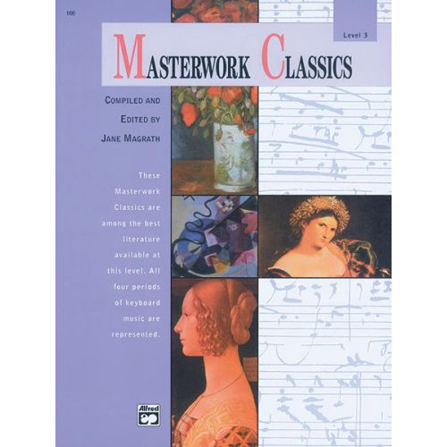 ALFRED PUBLISHING MAGRATH JANE - MASTERWORK CLASSICS LEVEL 3 + CD - PIANO
