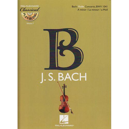 HAL LEONARD BACH J.S. - CONCERTO EN LA MINEUR BWV 1041 + CD - VIOLON