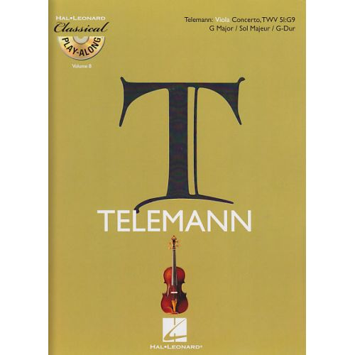 HAL LEONARD TELEMANN G.P. - CONCERTO EN SOL MAJEUR TWV 51:G9 + CD - ALTO