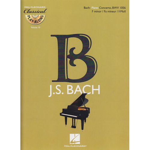 HAL LEONARD BACH J.S. - CONCERTO EN FA MINEUR BWV 1056 + CD - PIANO