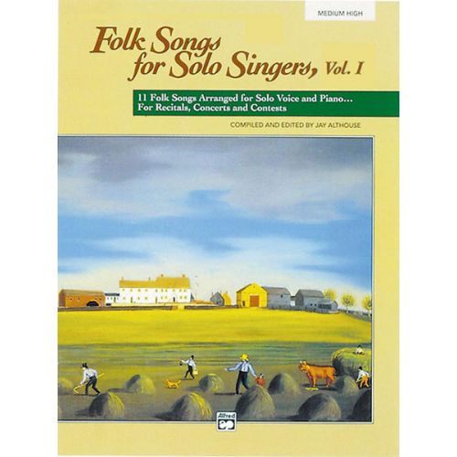 ALFRED PUBLISHING ALTHOUSE JAY - FOLK SONGS FOR SOLO SINGERS + CD - MEDIUM AND HIGH VOICE