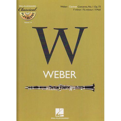 HAL LEONARD WEBER C.M. VON - CONCERTO N°1 EN FA MINEUR OP.73 + CD - CLARINETTE