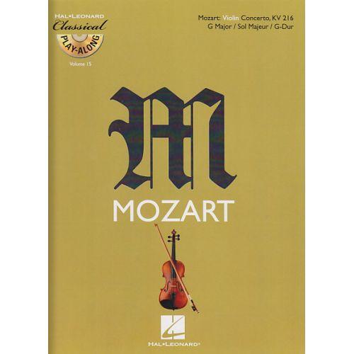 HAL LEONARD MOZART W.A. - CONCERTO EN SOL MAJEUR KV 216 + CD - VIOLON
