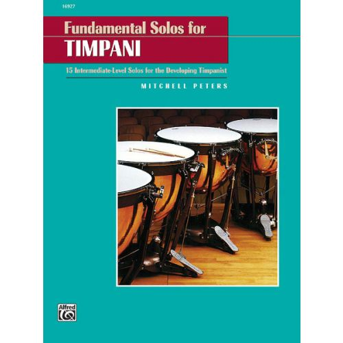 ALFRED PUBLISHING PETERS MITCHELL - FUNDAMENTAL SOLOS FOR TIMPANI - PERCUSSION SOLO