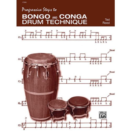 ALFRED PUBLISHING REED TED - PROGRESSIVE STEPS TO BONGO AND CONGA - DRUM