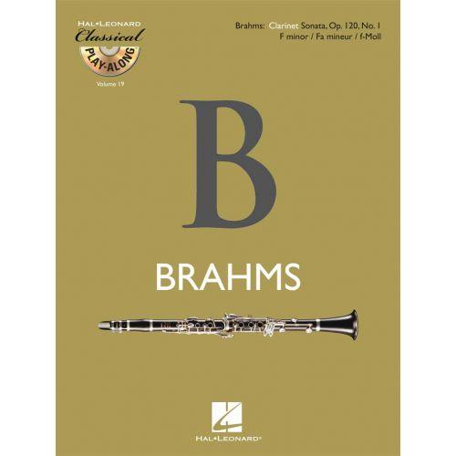 HAL LEONARD BRAHMS J. - CLARINET SONATA OP.120 N°1 + CD - CLARINETTE