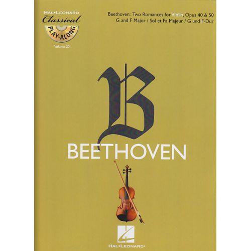 HAL LEONARD BEETHOVEN L. VAN - DEUX ROMANCES POUR VIOLON OP.40 ET 50 + CD - VIOLON