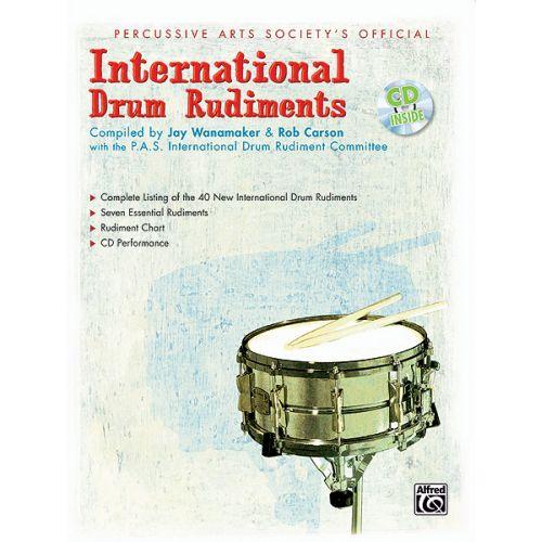 ALFRED PUBLISHING WANAMAKER JAY - INTERNATIONAL DRUM RUDIMENTS + CD - DRUM