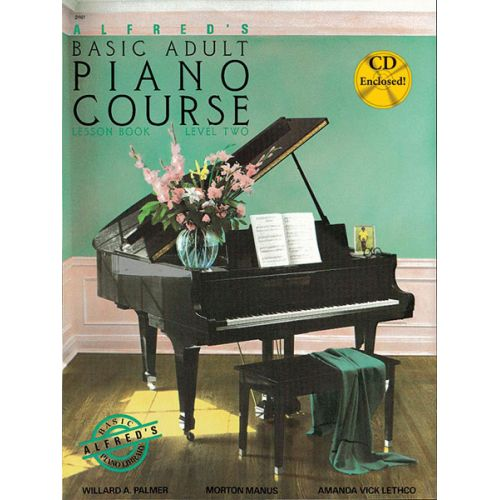 ALFRED PUBLISHING PALMER MANUS AND LETHCO - ALFRED ADULT PIANO COURSE LESSON BOOK 2 + CD - PIANO