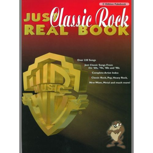 FABER MUSIC JUST CLASSIC ROCK REAL BOOK (C EDITION) - PVG