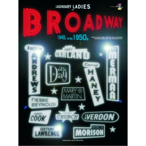FABER MUSIC LEGENDARY LADIES BROADWAY 40S-50S - PVG