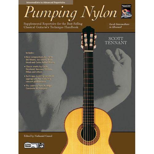 ALFRED PUBLISHING TENNANT SCOTT - PUMPING NYLON INTERMEDIATE TO ADVANCED + CD - GUITAR