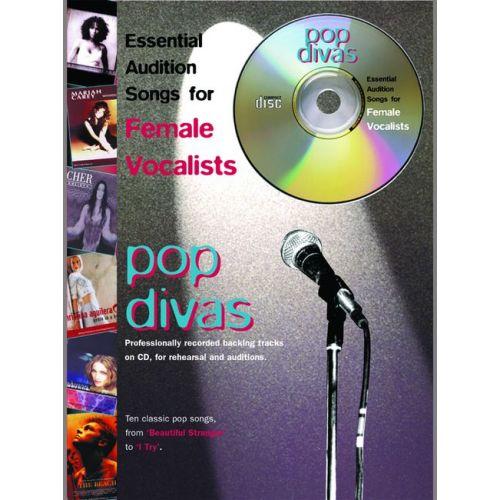 FABER MUSIC AUDITION SONGS - POP DIVAS + CD - PVG