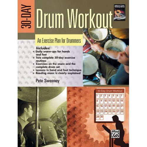ALFRED PUBLISHING SWEENEY PETE - 30-DAY DRUM WORKOUT - DRUM