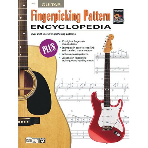 ALFRED PUBLISHING MANZI LOU - FINGERPICKING PATTERN ENCYCLOPEDIA + CD - GUITAR