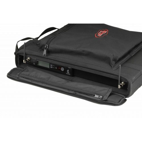 SKB 1SKB-SC191U - 1U SOFT RACK CASE, STEEL RAILS, HEAVY DUTY ZIPPERS, OUTER POCKET, SHOULDER STRAPS