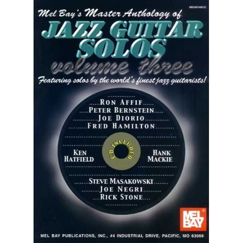 MEL BAY MASTER ANTHOLOGY OF JAZZ GUITAR SOLOS, VOLUME 3 + CD - GUITAR