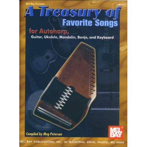 MEL BAY PETERSON MEG - A TREASURY OF FAVORITE SONGS FOR AUTOHARP - HARP