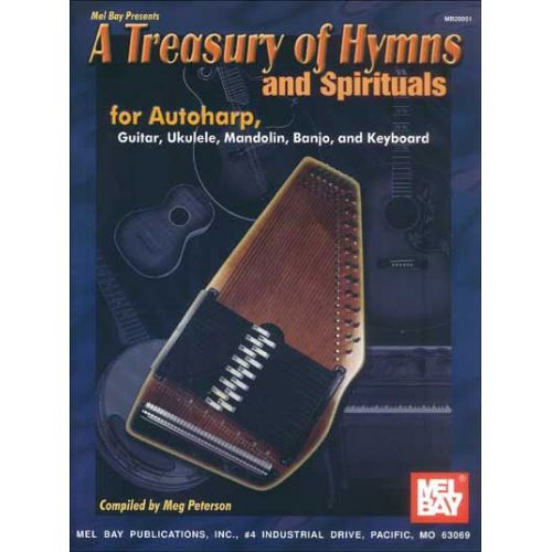 MEL BAY PETERSON MEG - A TREASURY OF HYMNS AND SPIRITUALS - HARP