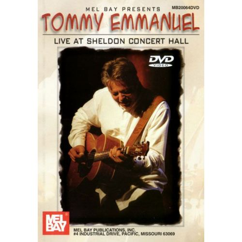 MEL BAY EMMANUEL TOMMY - LIVE AT SHELDON CONCERT HALL - GUITAR