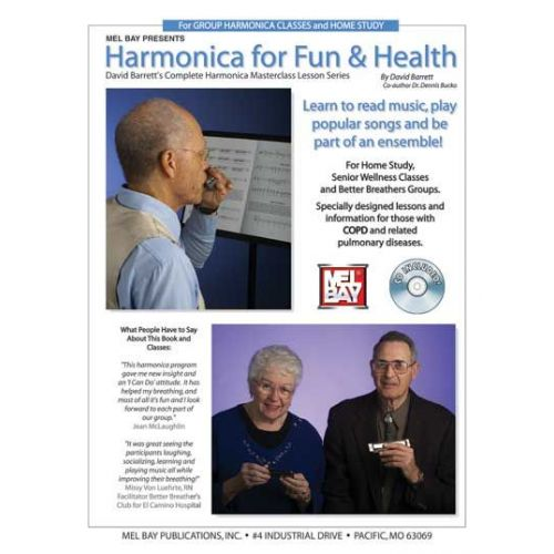 MEL BAY BARRETT DAVID - HARMONICA FOR FUN AND HEALTH + CD - HARMONICA