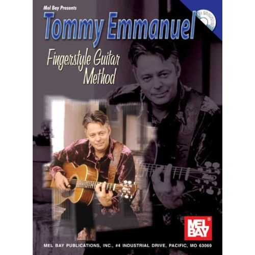 MEL BAY EMMANUEL TOMMYFINGERSTYLE GUITAR METHOD + CD - GUITAR