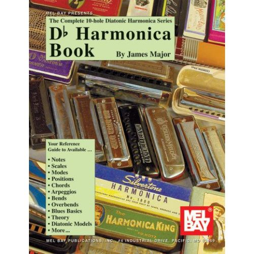 mel bay major james db harmonica book harmonica. Black Bedroom Furniture Sets. Home Design Ideas
