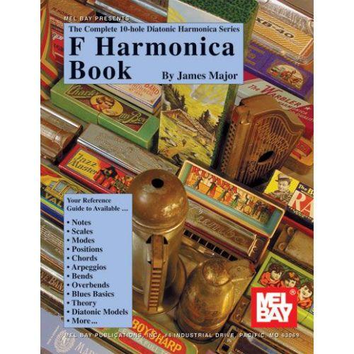 MEL BAY MAJOR JAMES - F HARMONICA BOOK - HARMONICA