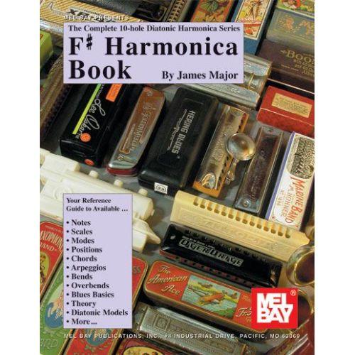 MEL BAY MAJOR JAMES - F# HARMOICA BOOK - HARMONICA
