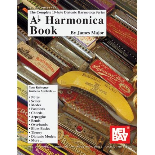 mel bay major james ab harmonica book harmonica. Black Bedroom Furniture Sets. Home Design Ideas