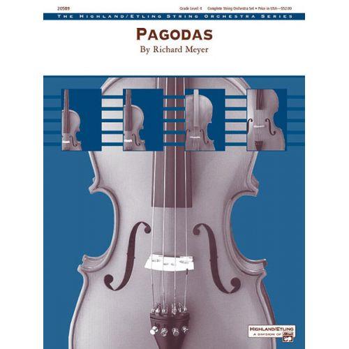 ALFRED PUBLISHING MEYER RICHARD - PAGODAS - STRING ORCHESTRA