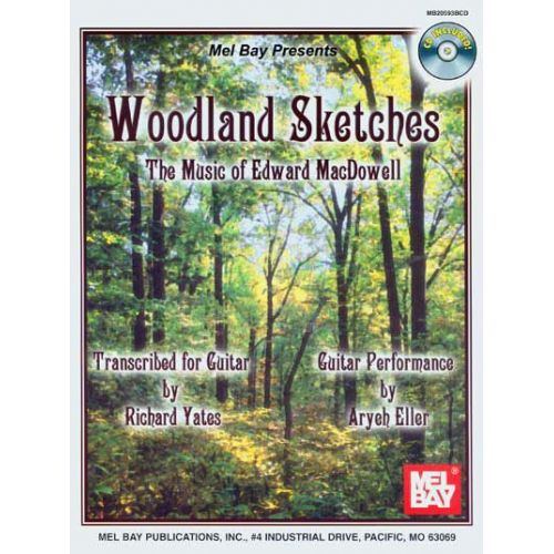 MEL BAY YATES RICHARD - WOODLAND SKETCHES + CD - GUITAR