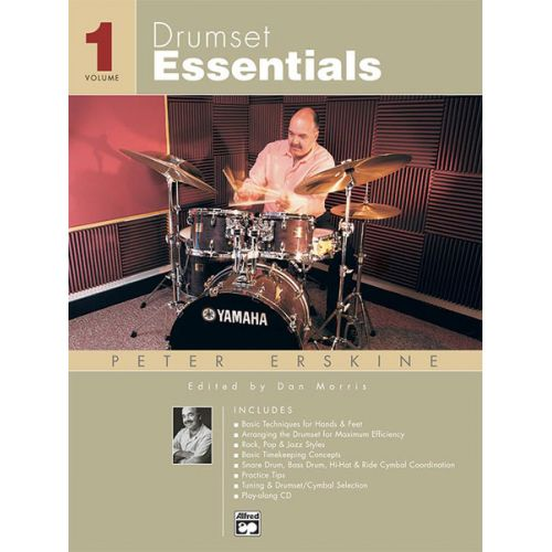 ALFRED PUBLISHING ERSKINE PETER - DRUMSET ESSENTIALS VOLUME 1 + CD - PERCUSSION