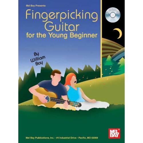 MEL BAY BAY WILLIAM - FINGERPICKING GUITAR FOR THE YOUNG BEGINNER + CD - GUITAR