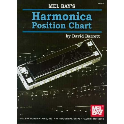 MEL BAY BARRETT DAVID - HARMONICA POSITION CHART - HARMONICA