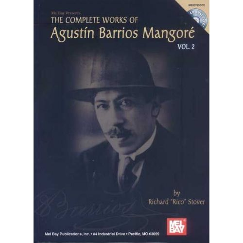 MEL BAY PIO BARRIOS AGUSTIN - THE COMPLETE WORKS OF VOL. 2 + CD - GUITAR