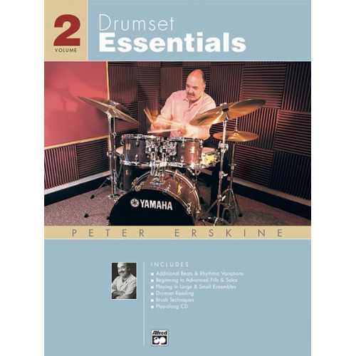 ALFRED PUBLISHING ERSKINE PETER - DRUMSET ESSENTIALS VOLUME 2 + CD - PERCUSSION