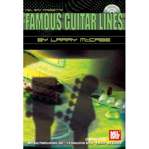 MEL BAY MCCABE LARRY - FAMOUS GUITAR LINES QWIKGUIDE + CD - GUITAR