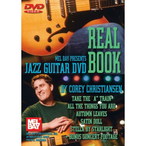 MEL BAY CHRISTIANSEN CORY - JAZZ GUITAR DVD REAL BOOK - GUITAR