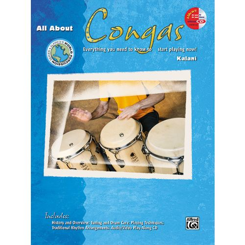 ALFRED PUBLISHING ALL ABOUT CONGAS + CD - PERCUSSION