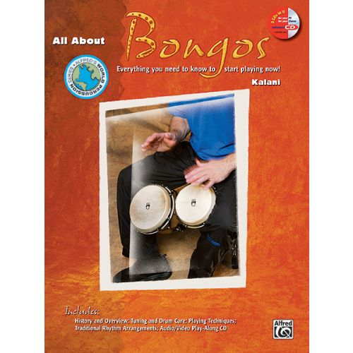 ALFRED PUBLISHING ALL ABOUT BONGOS + CD - PERCUSSION